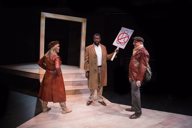 Beth Hylton (left) as Heidi Holland, Anderson Wells (center) as Mark, and Joseph W. Ritsch (right) as Peter Patrone