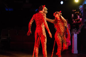 Matthew Marcus (left) as Tiger and Katie Jeffries Zelonka (right) as Tigress
