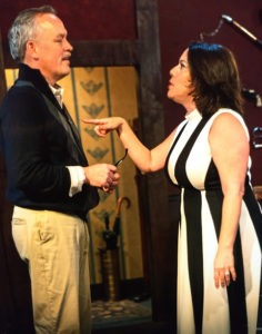 J. McAndrew Breen (left) as Sidney Bruhl and Kryss Lacovaro (right) as Myra Bruhl