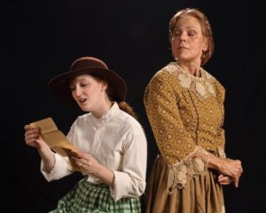 Carrie Brady (left) as LucyGale Scruggs and Meg Venton (right) as Cecilia Delauny Pettison