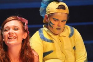 Isabella Bordner (left) as Ariel and Daniel Koncurat (right) as Flounder