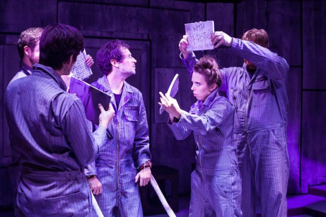 The company of 1984 at the Maryland Ensemble Theatre
