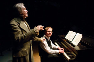 Greg Jones Ellis (left) as Beethoven with Ryan Shookman (right) the pianist