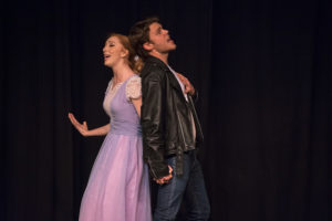 "Lindsey Litka (left) as Allison and Michael Nugent (right) as Wade ""Cry Baby"" Walker"