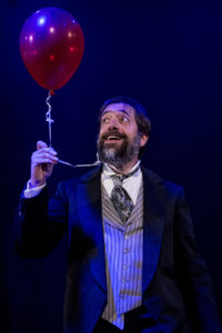 Zach Brewster-Geisz as 'Charles Guiteau' in Assassins produced by Pallas Theatre Collective