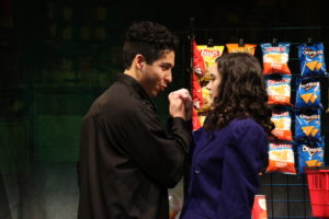 Luis Montes (left) as JD Dean and Olivia Winter as Veronica Sawyer