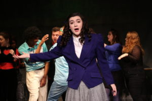 Olivia Winter as Veronica Sawyer in Heathers: The Musical