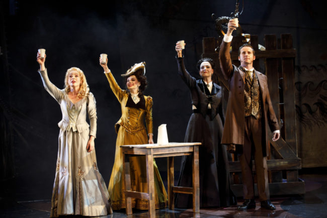 """Dear Old Friend""– Mary Michael Patterson (""Meg Giry""), Meghan Picerno (""Christine Daaé""), Karen Mason (""Madame Giry"") and Sean Thompson (""Raoul, Vicomte de Chagny"") star in Love Never Dies."