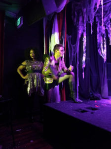 Duchess LeNoire (left) as Magenta and Jonathan Lightner (right) as Riff Raff