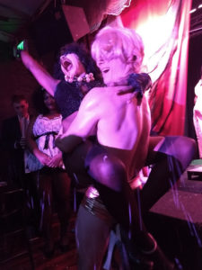 Diamond Taylor (left) as Dr. Frank N. Furter and Sam Dandwich (right) as Rocky