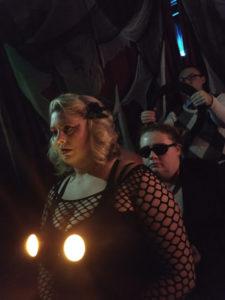 Schmutzie B (front) as Phantom, Ruby Darling (center) as Phantom, and Alex Bengal (back) as Brad Majors