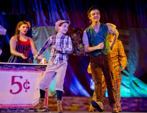 Sofia Bordner (left) as Winnie Foster and Josh Robinson (right) as Jesse Tuck