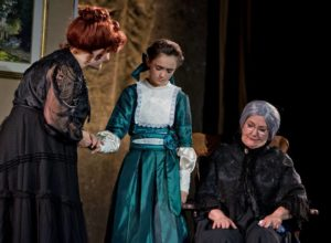 Jill Murray (left) as Mother, Sofia Bordner (center) as Winnie Foster, and Pam Provins (right) as Nana