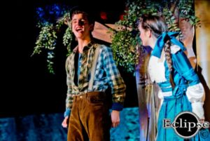 Josh Robinson (left) as Jesse Tuck and Sofia Bordner (right) as Winnie Foster