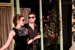 Rachel Varley (left) as Masha and Thomas Shuman (right) as Spike