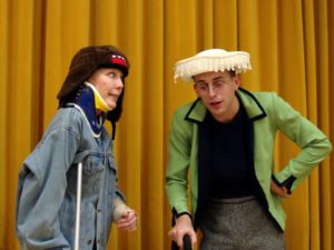 Jeanne Louise (left) as Petey Fisk and Ryan Ronan (right) as Dixie Deberry