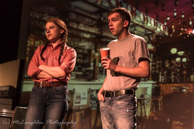 Annie Coulson (left) as Carolyn Johnson and James Swindell 9right) as Michael Johnson