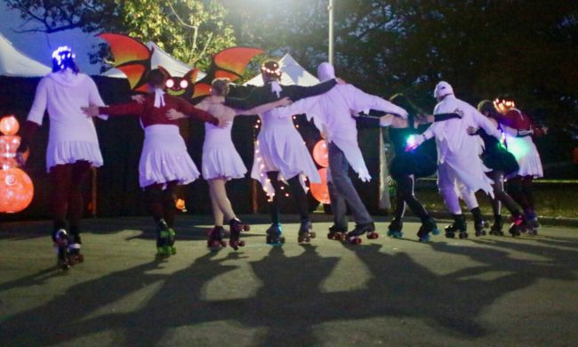 "Skaters from ""Swinging Spirits"" featured in Druid Hill Haunt: A Chiller Thriller Roller Show"
