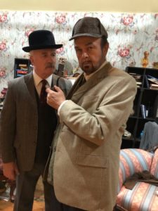 Forest Deal (left) as Watson and Chuck Dick (right) as Sherlock Holmes