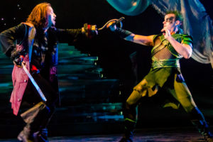 Ryan Sellers (left) as Captain Hook and Alex Mills (right) as Peter Pan
