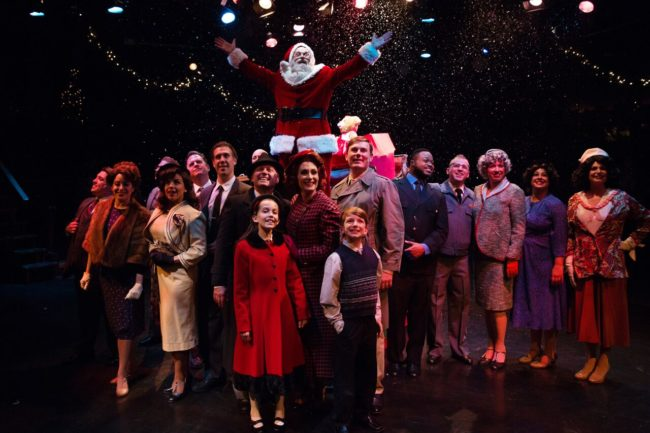 The cast of Miracle on 34th Street at Toby's Dinner Theatre