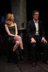 Lindsey Litka (left) as Casey and Reed DeLisle (right) as Aaron in First Date
