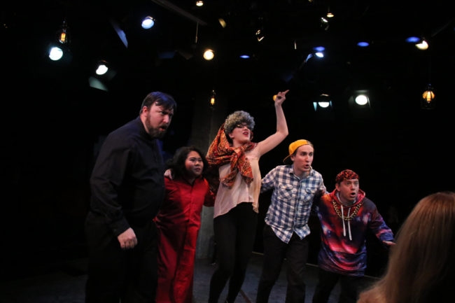 (L to R) Jim Gross, Marela Kay Minosa, Alyssa Bell, Adam Abruzzo, and Matt Wetzel in First Date