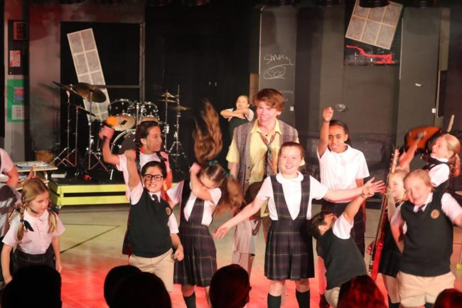 The Students of School of Rock at The Students' Theatre at The Highwood Theatre