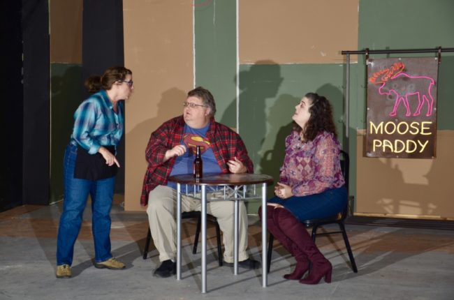 Jenna Jones Paradis, Rob Allen, and Pamela Northrup in Almost, Maine.