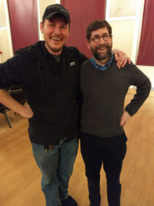Director David Jennings (left) with Musical Director and Conductor David Zajic (right) at a rehearsal for Titanic in Concert with Heritage Players