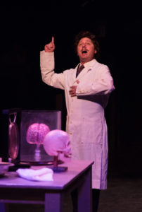 Jeffrey Shankle as Dr. Frederick Frankenstein in Young Frankenstein