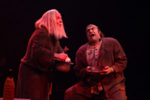 Robert Biedermann 125 (left) as The Hermit and Christopher Kabara (right) as The Monster