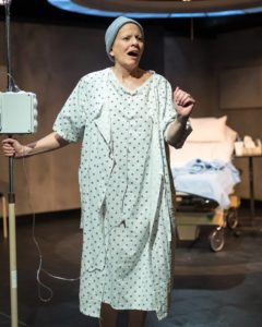 Emily Morrison as Vivian Bearing, Ph. D in Wit at Silver Spring Stage