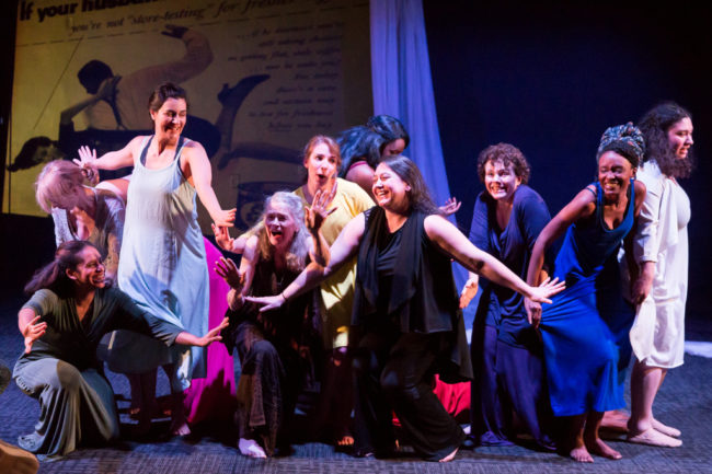 The ensemble of The Trojan Women Project.