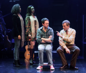 Kara-Tameika Watkins, Natascia Diaz, Luke Smith and Bobby Smith in LIGHT YEARS at Signature Theatre.