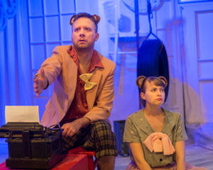 Matt Bannister (left) as Milton and Rebecca Shoer (right) as Kafka