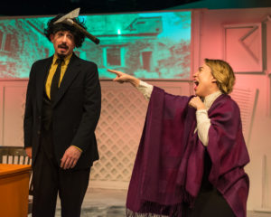 Michael Reilly (left) as Trotsky and Brianna Goode (right) as Mrs. Trotsky