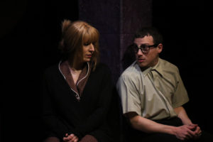 Amy Bell (left) and Andrew Grossman (right) in I Love You, You're Perfect, Now Change!