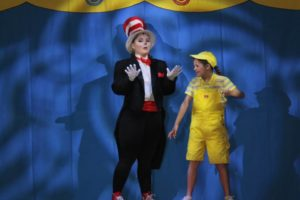 Karah Campbell (left) as The Cat in the Hat and Bella Comotto (right) as Jojo
