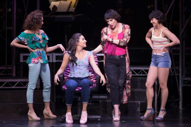 (L to R) Arianna Rosario as Carla, Ana Villafane as Nina, Eden Espinosa as Daniela, and Vanessa Hudgens as Vanessa