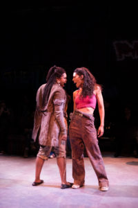 Taylor J. Washington (left) as Paradice and Briana Taylor (right) as Brooklyn