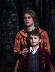 William Frankenstein (Sammy Greenslit) and his nanny, Justine Moritz (Katie McCarren) experience an eerie feeling that has come upon the park.