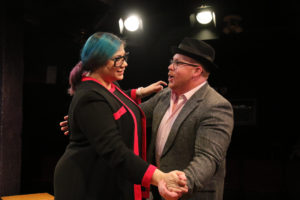 Carly M. Henderson (left) and Rob Wall (right) in I Love You, You're Perfect, Now Change!