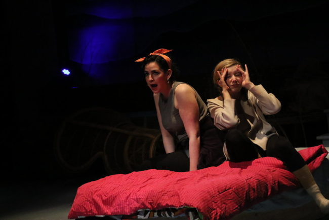 Natanya Washer (left) as Maria and Emily Sucher (right) as Rachel