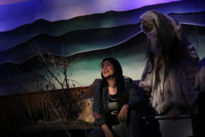 Mia Ybarra (left) as Molly and Mani Yangilmau (right) as La Llorona