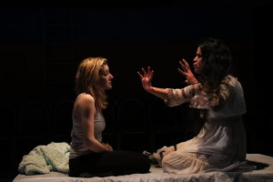Emily Sucher (left) as Rachel and Mani Yangilmau (right) as La Llorona