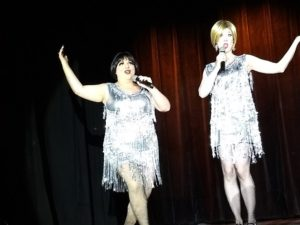 Bella La Blanc (left) as Velma Kelly and Kaylee Kalliope (right) as Roxie Hart