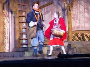 Ryan Geiger (left) as Baker and Ruby Webb (right) as Little Red Ridinghood
