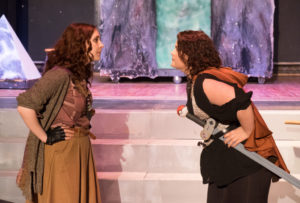 Nicki Seibert (left) as Agnes and Linda Roby (right) as Tilly