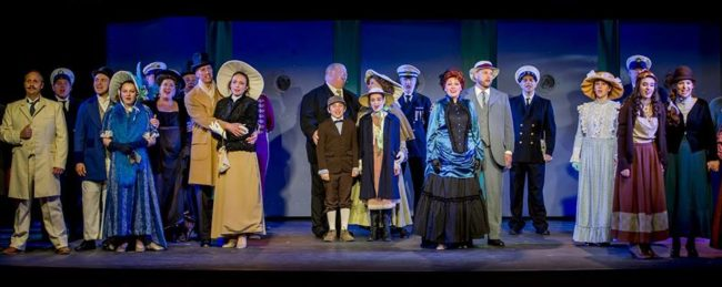 The cast of Titanic at Scottfield Theatre Company